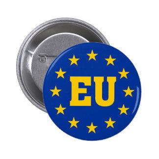 European Union, EU Flag 2 Inch Round Button