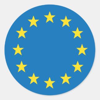 European Union EU flag Classic Round Sticker