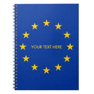 European Union EU flag custom spiral notebook