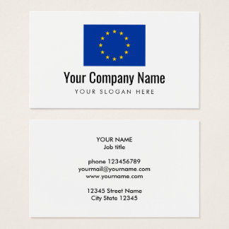 European Union flag company business card template