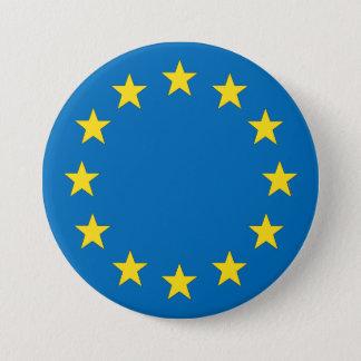 European Union flag EU referendum StrongerIn 3 Inch Round Button