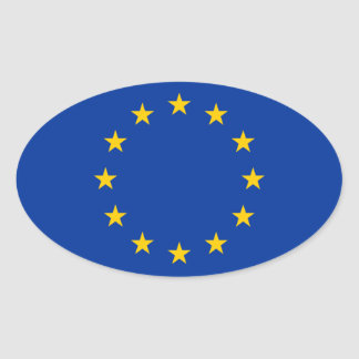 European Union Flag Oval Sticker