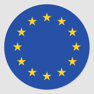European Union flag round stickers | Eu Europe