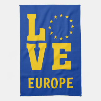 European Union LOVE Kitchen Towel