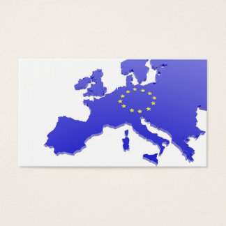 European union map business card