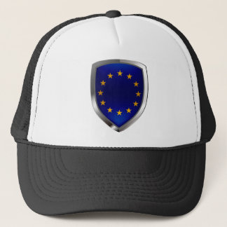 European Union Mettalic Emblem Trucker Hat