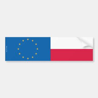 European Union & Polish Flags Bumper Sticker
