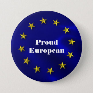 European Union Pride Badge 3 Inch Round Button