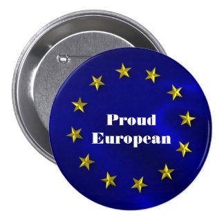 European Union Pride Badge 3 Inch Round Button
