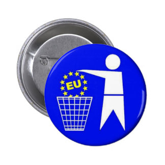 European union-protest 2 inch round button