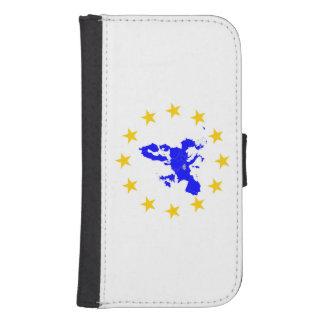 European union samsung s4 wallet case