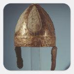 European war combat helmet, c.500 square sticker