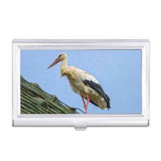 European white stork, ciconia business card holder