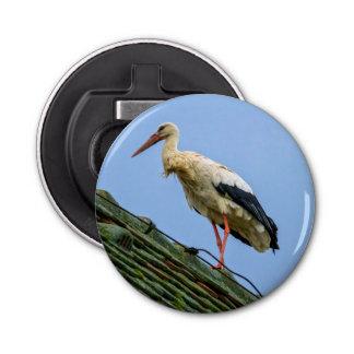 European white stork, ciconia button bottle opener