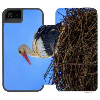 European white stork, ciconia, in the nest incipio watson™ iPhone 5 wallet case