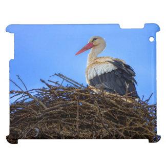 European white stork, ciconia, in the nest iPad case