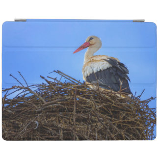 European white stork, ciconia, in the nest iPad cover