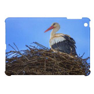 European white stork, ciconia, in the nest iPad mini cover