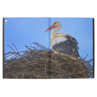 "European white stork, ciconia, in the nest iPad pro 12.9"" case"