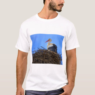 European white stork, ciconia, in the nest T-Shirt