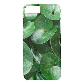 European Wild Ginger Glossy Leaves Close Up Photo iPhone 8/7 Case