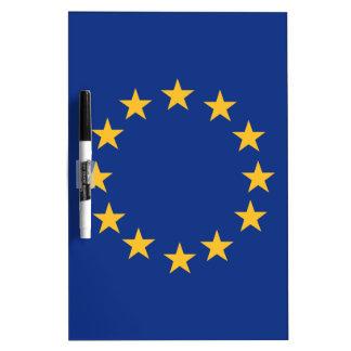 Europeanunion flag dry erase board