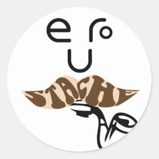 eurostache classic round sticker