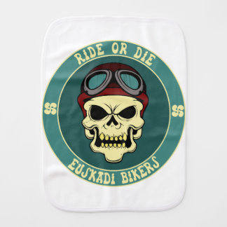 Euskadi bikers baby burp cloths