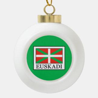 Euskadi Ceramic Ball Christmas Ornament