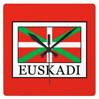 Euskadi Square Wall Clock