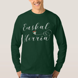 Euskal Herria Heart Tee Shirt, Basque Flag