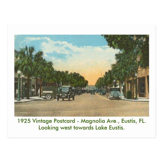 Eustis, FL - Magnolia Ave - 1925 Postcard