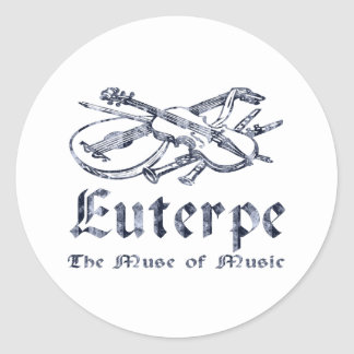 Euterpe Classic Round Sticker