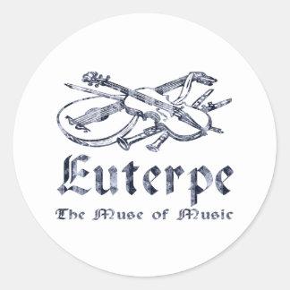 Euterpe Round Sticker