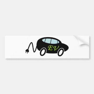 EV car and plug Bumper Sticker
