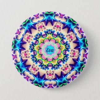 EVA~ Birthday Star Pattern Personalised ~ 3 Inch Round Button