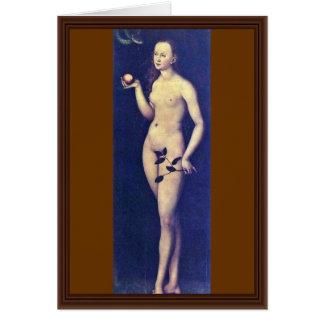 Eva By Cranach D. Ä. Lucas (Best Quality) Card