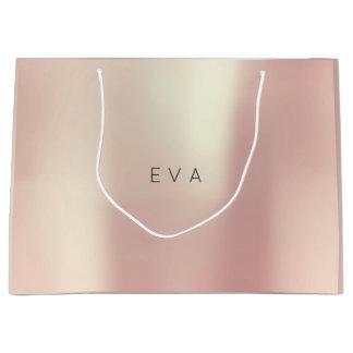 EVA Rose Gold Blush Pearly Minimal Gift Large Gift Bag