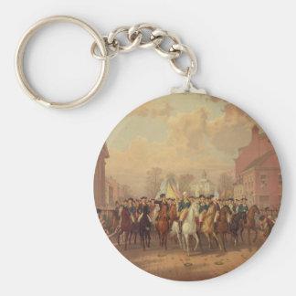 Evacuation day and Washingtons New York Entry 1783 Keychain