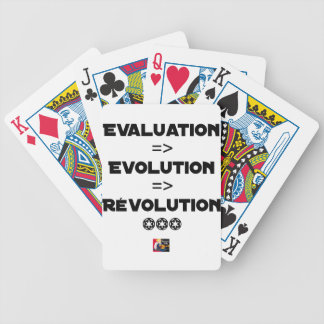 EVALUATION, EVOLUTION, REVOLUTION Word games Bicycle Playing Cards