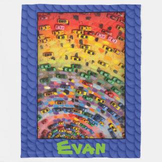 Evan - Blue Fleece Blanket