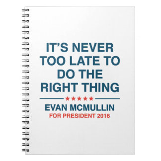 Evan McMullin Quote Notebooks