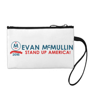 Evan McMullin - Stand up America! Change Purse