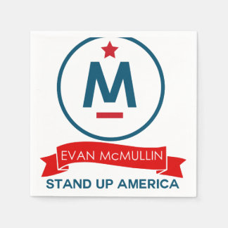 Evan McMullin - Stand up America! Disposable Napkins