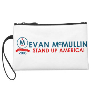 Evan McMullin - Stand up America! Wristlet Clutch