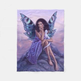 Evanescent Fairy & Dragon Art Fleece Blanket
