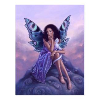 Evanescent Fairy & Dragon Art Postcard