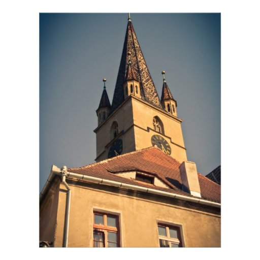 Evangelic church tower, Sibiu Personalized Flyer