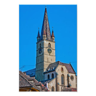 Evangelic church tower, Sibiu Photo Print