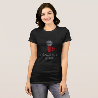 EVANGELISTIC GRIND BLK AND RED WOMENS SHIRT